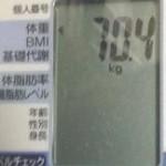 ベジライフ酵素ダイエット2kg増加!?生理中、前後の体重変化